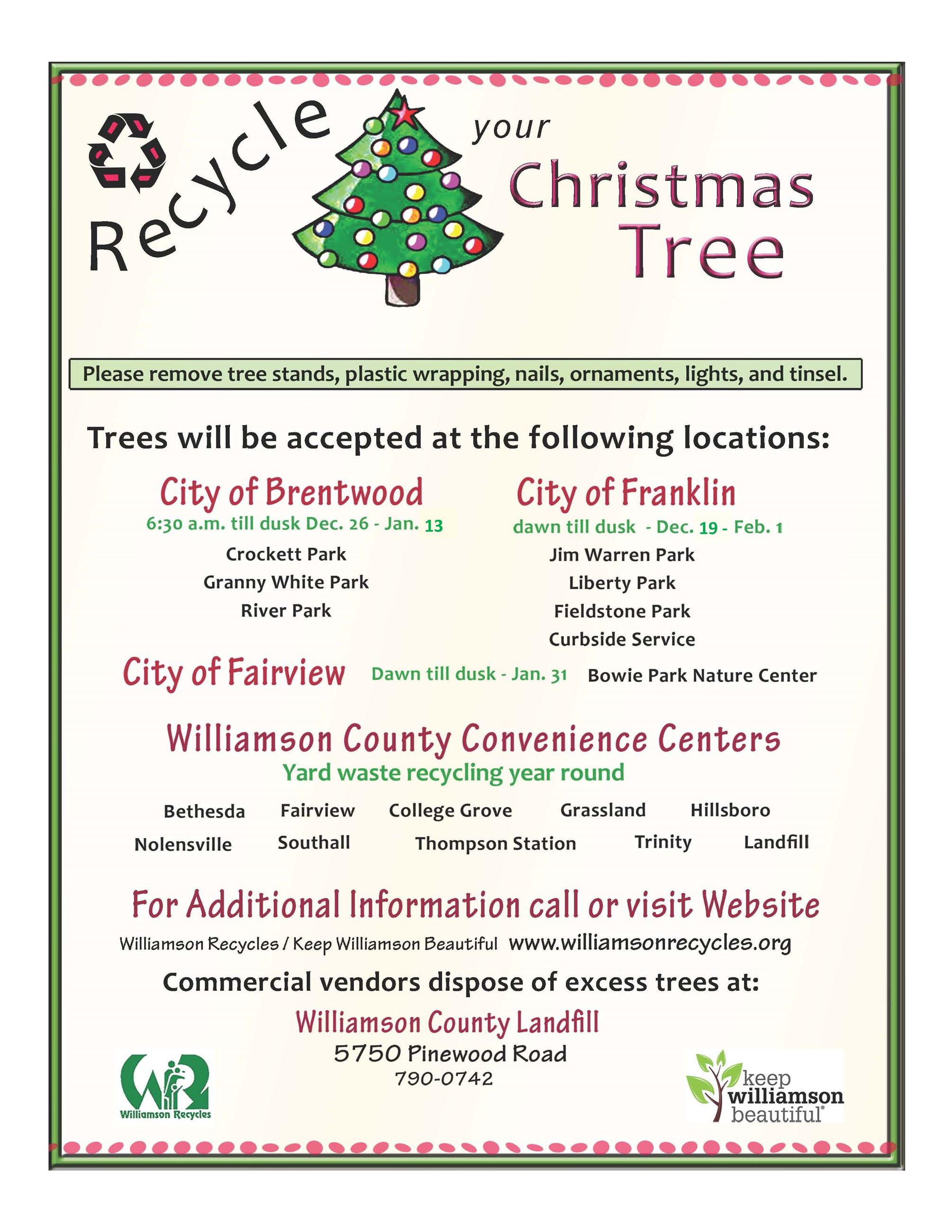2016 Christmas Tree Recycling Flyer