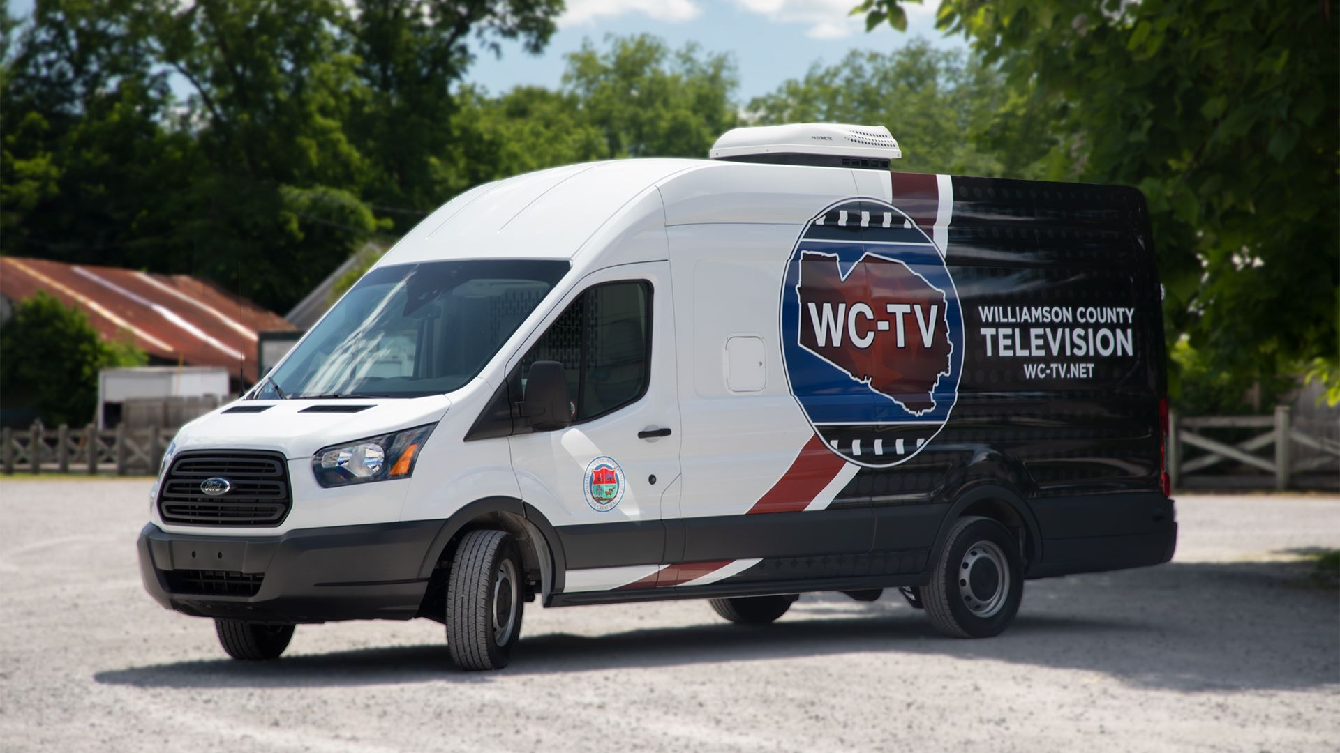 A scenic view of the WC-TV Production Van