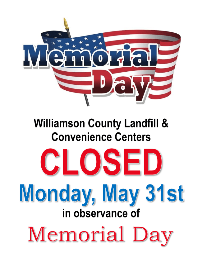 mem day closure 2021