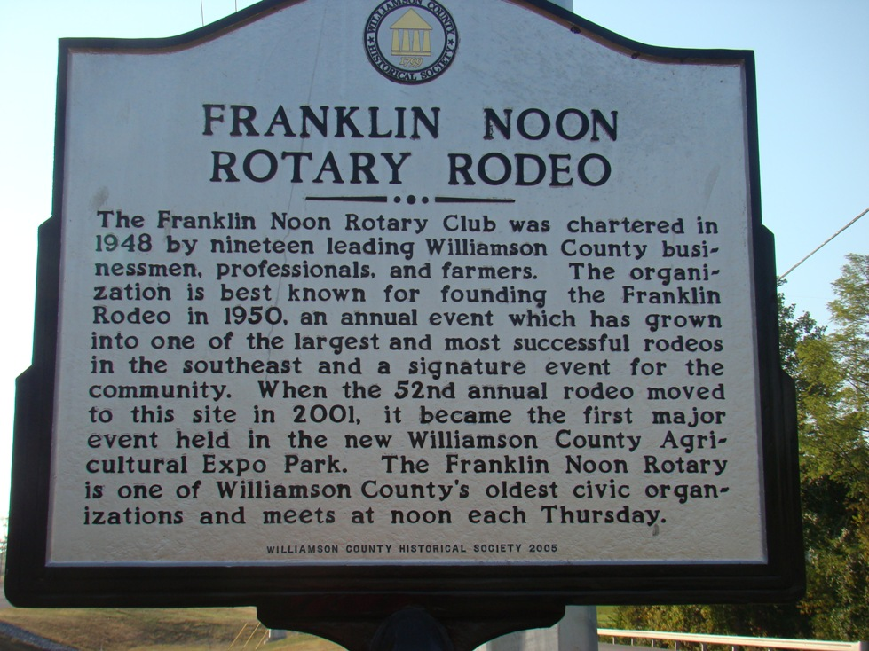 Franklin Rodeo Historic Marker