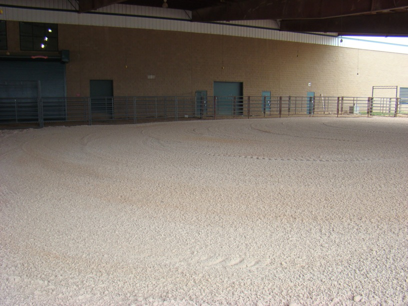 Covered Warm-Up Arena