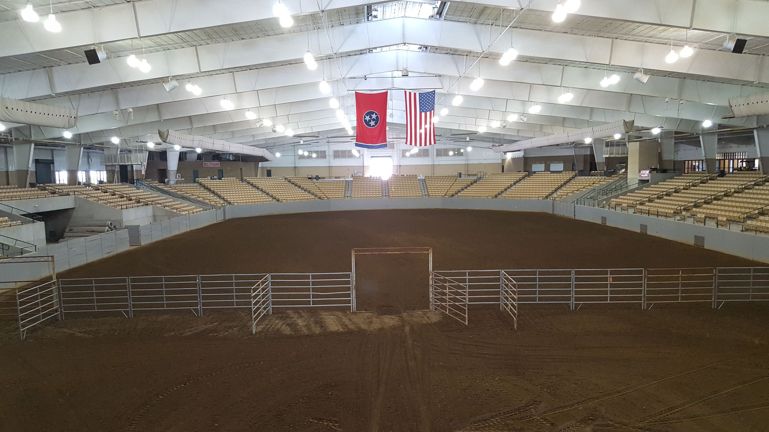 Main Arena setup for Horse Show