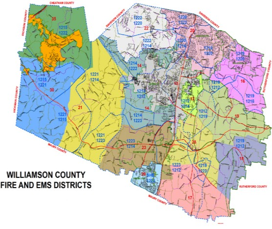 Fire Service Williamson County TN Official Site - Tn map with counties and cities
